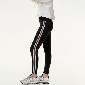 Kendall & Kylie black red stripe flattering pants